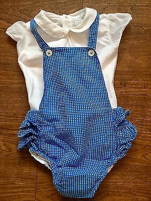 Carrement Beau Baby Girls Blue Outfit Romper Dungaree Size 6 Months Spanish