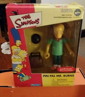 The simpsons  playmates World Of Simpsons pin pal Burns