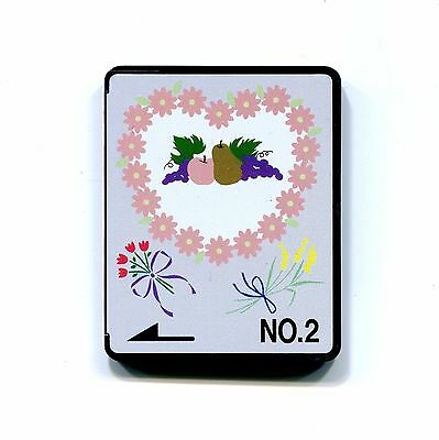BERNINA Brother BABYLOCK DECO Machine Embroidery memory Card no 2 FLOWER FRUIT