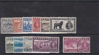 BD680) Newfoundland 1937 Coronation long set of 11, fresh mint lightly hinged