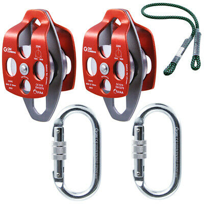 Hauling System Kit Block and Tackle System 5:1 for Climbing Rigging Arborist CE