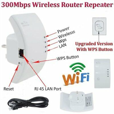 300Mbps Wifi Repeater Wireless 802 AP Range Router Extender Booster AUplug Lot D