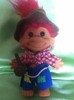 TROLL RUSS DOLL HILLBILLY with CORNCOB PIPE VINTAGE TOY COLLECTABLE