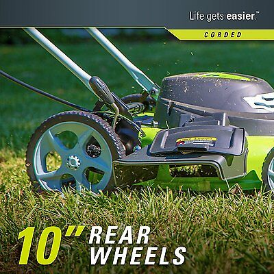 Greenworks  12 Amp 20-inch 3*in*1 Corded Lawn Mower*25022