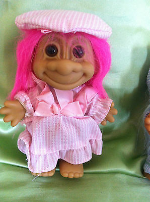 Troll Doll Vintage Russ Spring Time Girl Troll Doll Toy Collectable