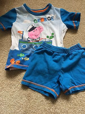 Peppa Pig - George Mothercare Boys Pyjamas 12-18
