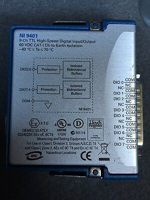 National Instruments cDAQ NI 9401 8 Channel TTL High-Speed Digital Input/Output