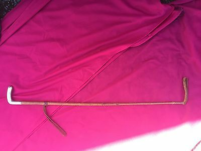 Antique Leather Whip With A Solid Silver Handle