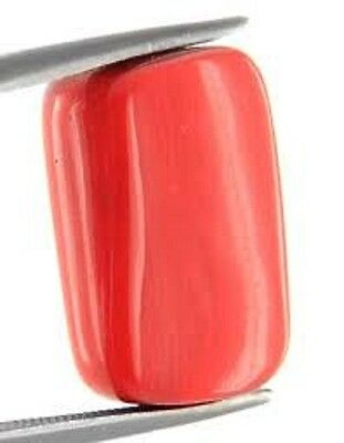 Lab Certified Italian 6.95 Ct Natural Capsule Cabochon Red Coral Loose Gemstone