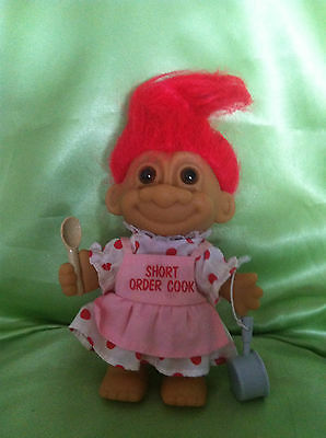 Troll Doll Vintage Russ Short Order Cook Troll Doll Toy Collectable