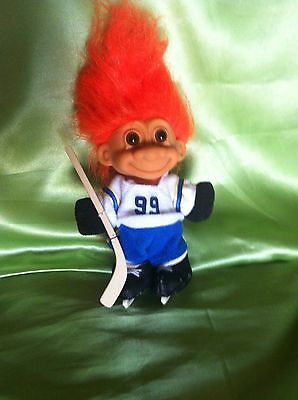 Troll Doll Vintage Russ Ice Hockey 99 Sports Boy Doll Toy Collectable