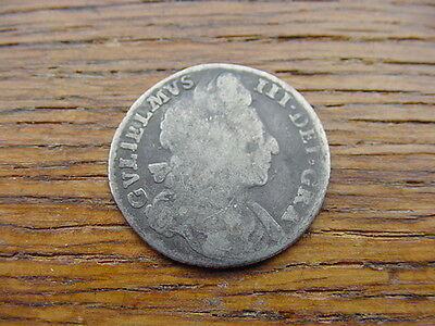 1696-William 3rd 2nd bust sixpence, no stop after GRA, 11-20 known pattern/proof