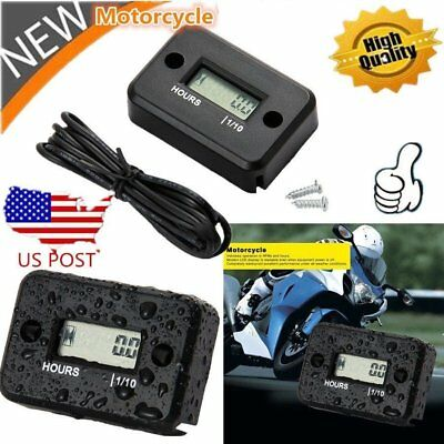 Waterproof Digital Tachometer RPM Counter Hour Meter For 2/4 Stroke Gas Motor ZM