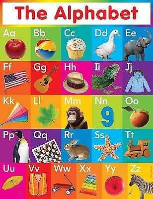 14420 My ABC Alphabet Learn table Wall Print POSTER UK