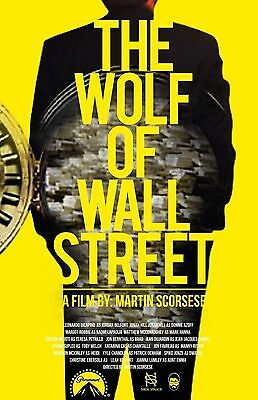 15605 the wolf of wall street TV Wall Print POSTER UK