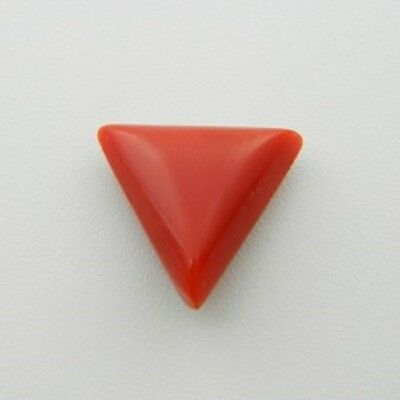 Lab Certified Italian 4.65 Ct Natural Triangular Red Coral Loose Gemstone