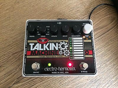 Electro Harmonix Talking Machine Guitar Effects Pedal including power supply
