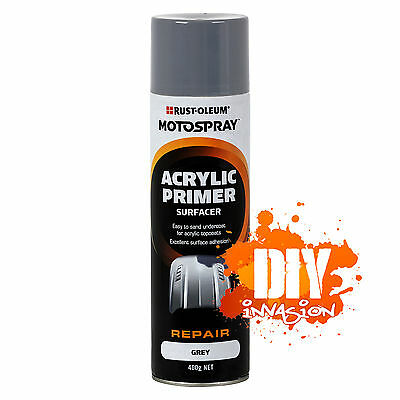 Acrylic Primer Surfacer 400g Grey Motospray Excellent Surface Adhesion Quick Dry