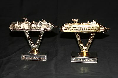Carnival Cruise Line Ship On A Stick Trophys Carnival Sunshine And Freedom N/m