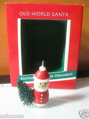 Old World Santa Hallmark Christmas Tree Ornament in Box