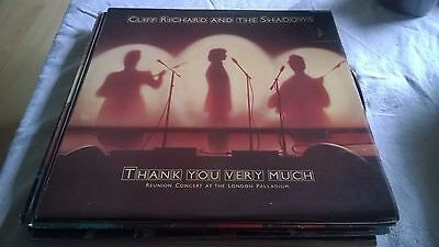 "Cliff Richard and the Shadows - Thank You Very Much Vinyl Album LP 12""  1979"
