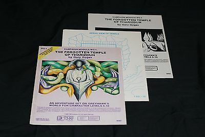 Tsr's Advanced Dungeon Dragons Module Wg4 The Forgotten Temple Of Tharizdun N/m