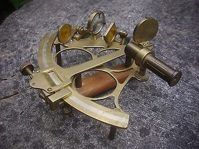 Sextant Brass Vintage -Number Of Years Old - Ross -Spares -Decorative- Free P&p