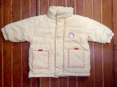 Warm Yellow Baby Winter Jacket From France Size 0 Age 6 Months Cotton Lined