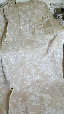 LAURA ASHLEY CURTAINS CUSTOM MADE EYELET TOP FULL LENGTH 2nd pair