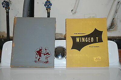 Winged T Football Book Lot Coaching Playbook David Nelson  Forest Evashevski