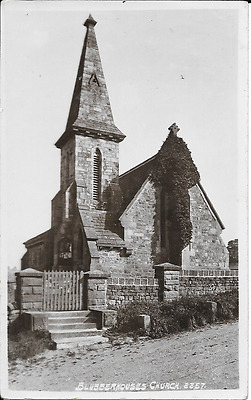 Postcard of the church at Blubberhouses. West Yorkshire
