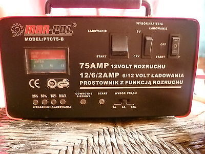 Car Battery Starter/Charger 6/12V, 75 amp.