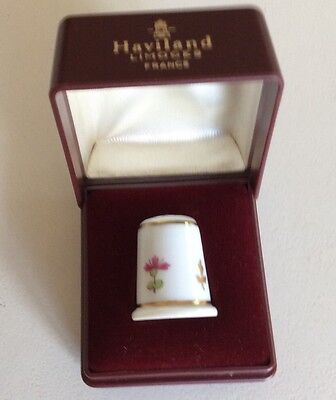 Vintage 1970's Haviland Limoges France China Thimble In Original Box