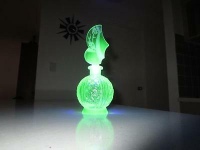 Antique Uranium Glass Perfume Bottle