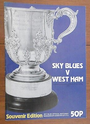 Coventry City V West Ham United (League Cup Semi-Final) Football Programme 1981