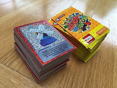 Over 240 Lego Create Cards 25 New Unopened Packs + 140 cards