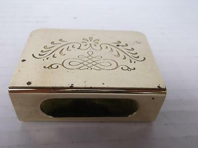 372 / Early 20Th Century Brass Match Box Holder With Engraved Design.