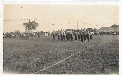 Postcard of camp life at Chelmsford, Essex