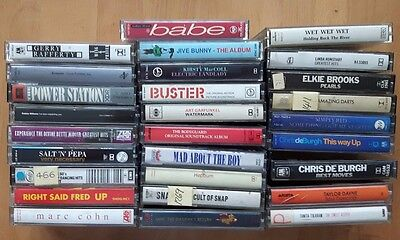 Music Cassette Collection 28 Pop Tapes  free delivery for UK *LOT45