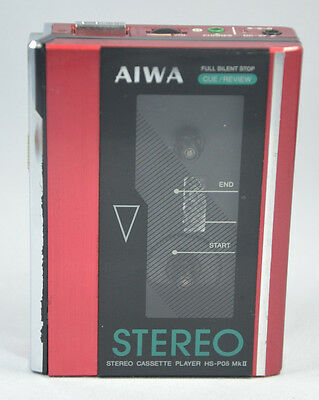 AIWA HS-P05 MkII STEREO CASSETTE PLAYER  Personal Tape Walkman TESTED WORKING