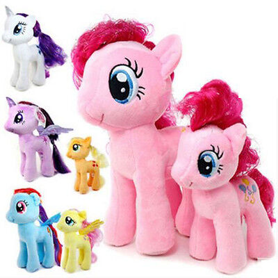 """Cute My Little Horse Toys 7"""" Figures Stuffed Plush Soft Teddy Doll Toy Kids Gift"""