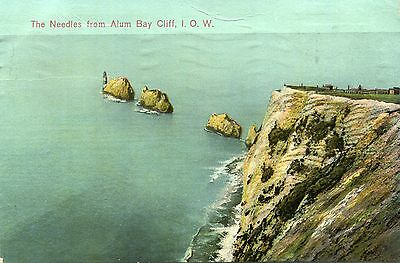 1930 postcard The Needles from Alum Bay Cliff Isle of Wight
