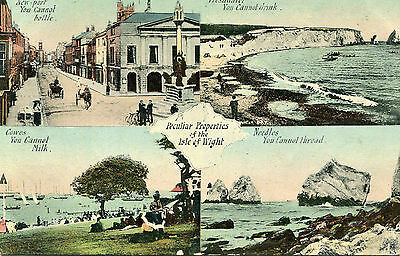 1907 postcard Multiview Isle of Wight