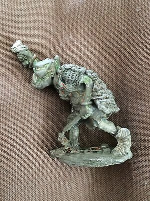 metal pre slotta FTO - 11 Orc chief with sword + flail Citadel Fantasy Tribes GW