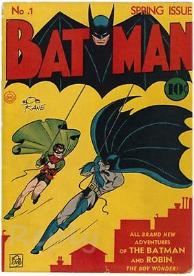 Cover #1 Poster of Batman Magazine With Autograph by Bob Kane i Repica