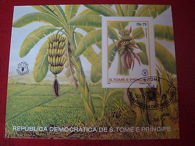 Sao Tome & Principe - 1981 Bananas - Minisheet - Unmounted Used - Ex Condition
