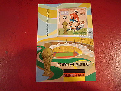 Equatorial Guinea: 1974 World Cup - Minisheet - Unmounted Used - Ex. Condition