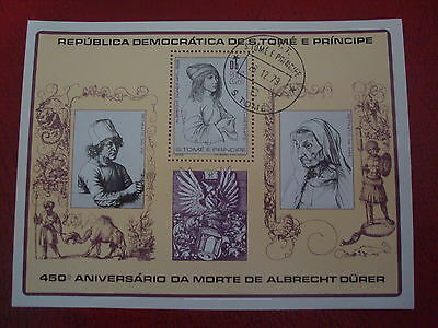 Sao Tome & Principe - 1979 Durer - Minisheet - Unmounted Used -  Ex Condition