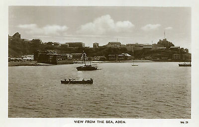 1920s postcard View from the Sea ADEN Africa