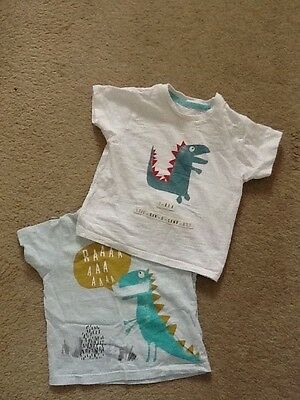 2 x baby boys t-shirts 6-9 months